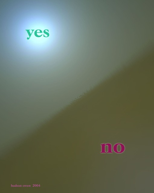 Yes and No 8x10 copy